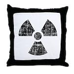 Vintage Radioactive Symbol 1 Throw Pillow