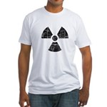 Vintage Radioactive Symbol 1 Fitted T-Shirt
