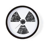 Vintage Radioactive Symbol 1 Wall Clock