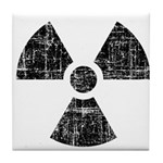 Vintage Radioactive Symbol 1 Tile Coaster