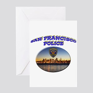 SFPD Skyline Greeting Card
