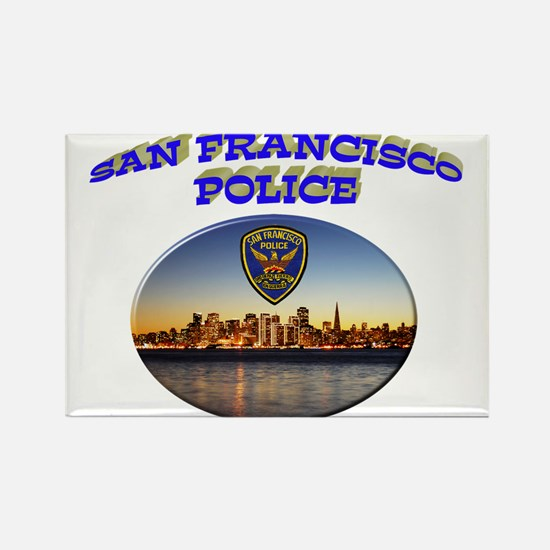 SFPD Skyline Rectangle Magnet