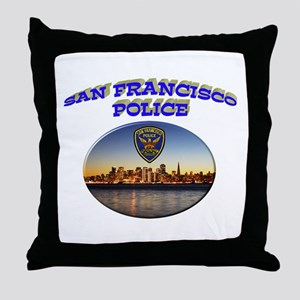 SFPD Skyline Throw Pillow