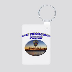 SFPD Skyline Aluminum Photo Keychain