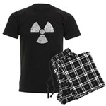 Vintage Radioactive Symbol 1 Men's Dark Pajamas
