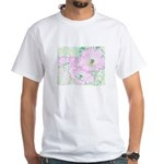 Pink Cactus Flowers White T-Shirt