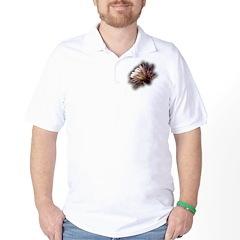White Cactus Flower Golf Shirt