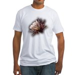 White Cactus Flower Fitted T-Shirt