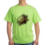 White Cactus Flower Green T-Shirt
