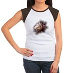 White Cactus Flower Women's Cap Sleeve T-Shirt