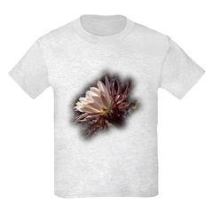 White Cactus Flower T-Shirt
