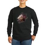 White Cactus Flower Long Sleeve Dark T-Shirt