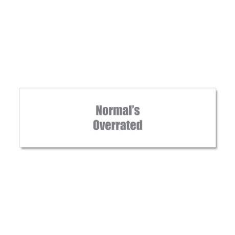 Normal's Overrated Car Magnet 10 x 3