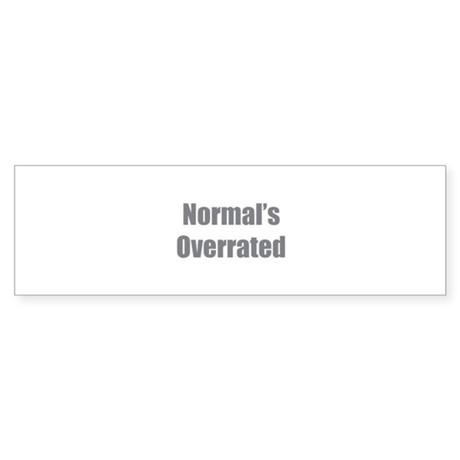 Normal's Overrated Sticker (Bumper 50 pk)