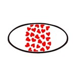 Red Hearts Pattern Patches