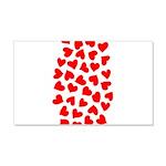 Red Hearts Pattern 22x14 Wall Peel