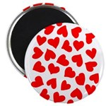 Red Hearts Pattern Magnet
