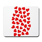 Red Hearts Pattern Mousepad