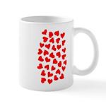 Red Hearts Pattern Mug