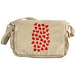 Red Hearts Pattern Messenger Bag