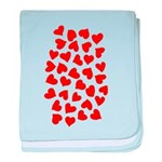 Red Hearts Pattern baby blanket