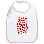 Red Hearts Pattern Bib