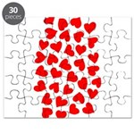 Red Hearts Pattern Puzzle