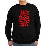 Red Hearts Pattern Sweatshirt (dark)