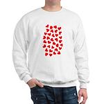 Red Hearts Pattern Sweatshirt