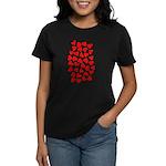 Red Hearts Pattern Women's Dark T-Shirt