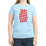 Red Hearts Pattern Women's Light T-Shirt