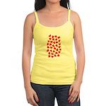 Red Hearts Pattern Jr. Spaghetti Tank