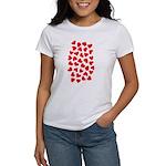 Red Hearts Pattern Women's T-Shirt