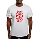 Red Hearts Pattern Light T-Shirt