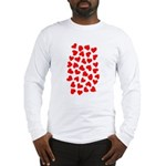 Red Hearts Pattern Long Sleeve T-Shirt