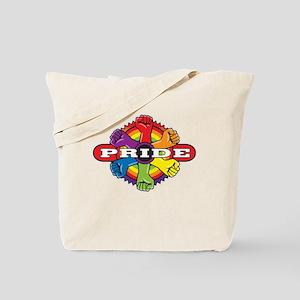 Gay Pride Power Ring Tote Bag