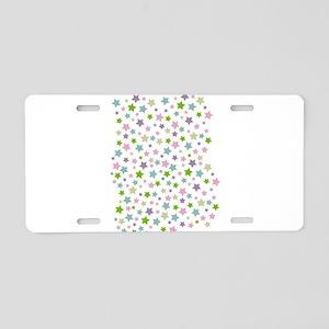 Pastel Star Pattern Aluminum License Plate