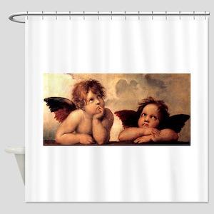 Cherub Angels Shower Curtain