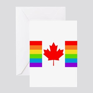 Canadian Pride Flag Greeting Card