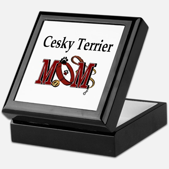 Cesky Terrier Mom Keepsake Box