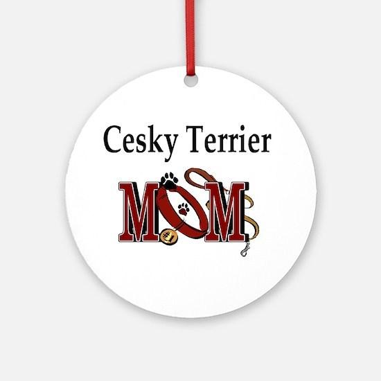Cesky Terrier Mom Ornament (Round)