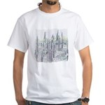 Many Saguaros Recreated White T-Shirt