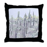 Many Saguaros Recreated Throw Pillow