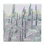 Many Saguaros Recreated Tile Coaster