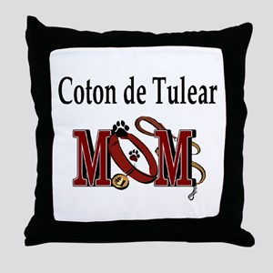 Coton de Tulear Mom Throw Pillow