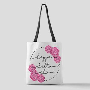 Kappa Delta Chi Sorority Pink R Polyester Tote Bag