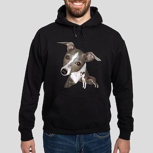 Italian Greyhound art Hoodie (dark)