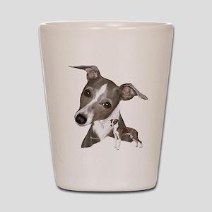 Italian Greyhound art Shot Glass