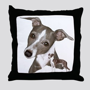 Italian Greyhound art Throw Pillow