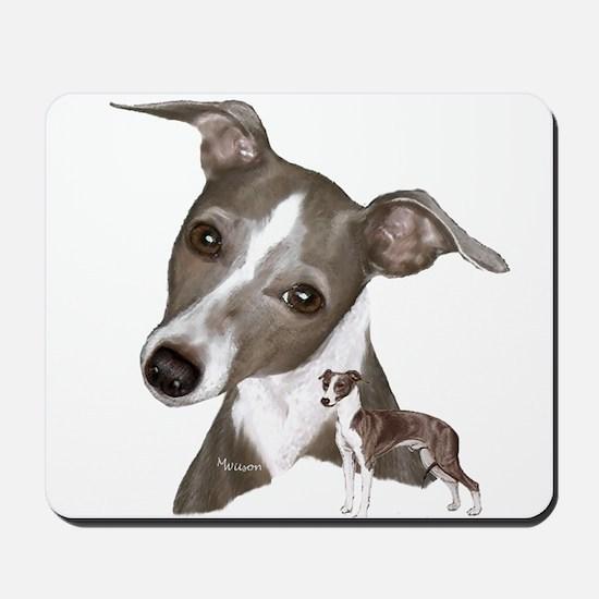 Italian Greyhound art Mousepad